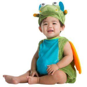 Green Dragon Plush Halloween Costume Set 6–12 Mth